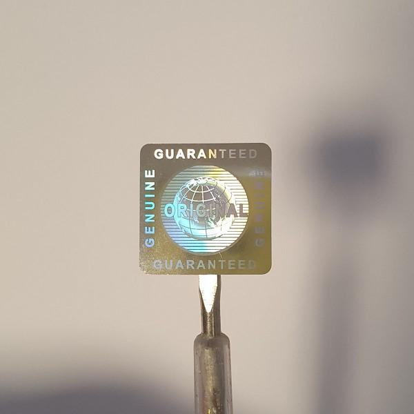 """""""Original"""" 3D Hologramm Sicherheitssiegel Silber 20x20mm"""