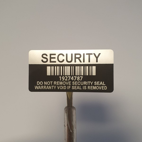 Garantiesiegel Security Seal 40x20 mm mit Barcode