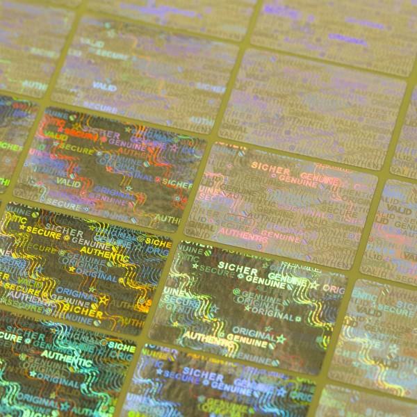 """""""Sicher"""" 3D Hologramm Sicherheitssiegel 30x20 mm Silber"""