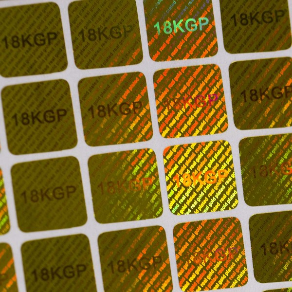 """""""18KGP"""" 3D Hologramm Aufkleber Gold für Schmuck oder Münzen"""
