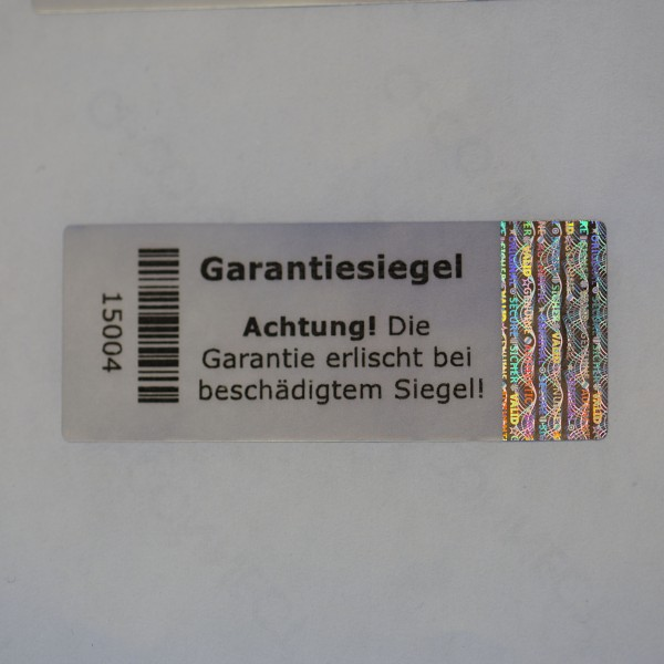 Hologramm Garatiesiegel 5 x 2 cm
