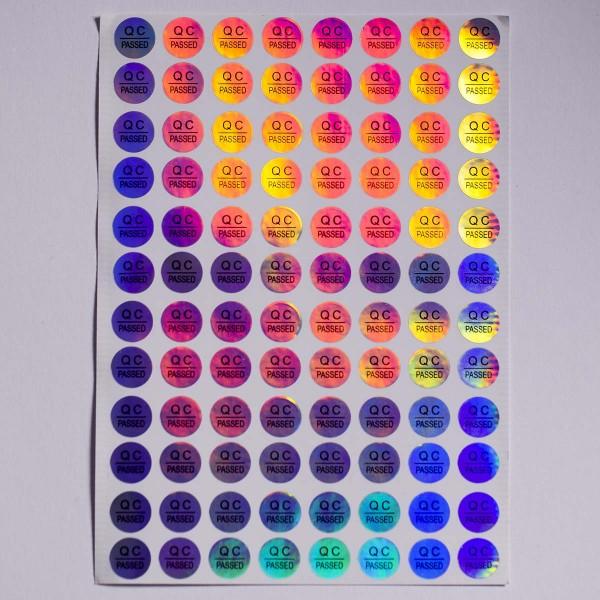 3D Hologramm QC passed Qualitätskontrolle