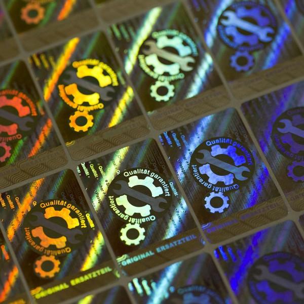 """""""Original Ersatzteil"""" 3D Hologramm Siegel 40 x 25 mm"""