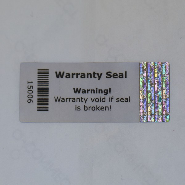 Hologramm Warranty Seal 5 x 2 cm