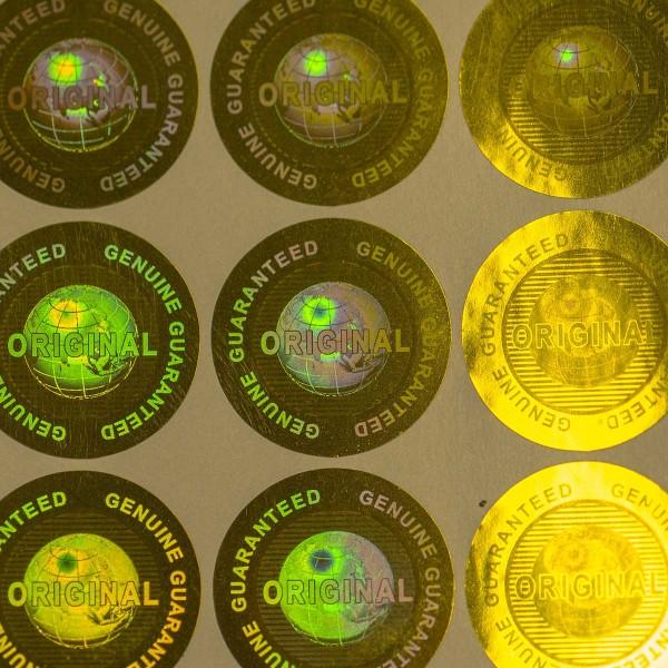 """Original"" 3D Hologramm Sicherheitssiegel Gold"