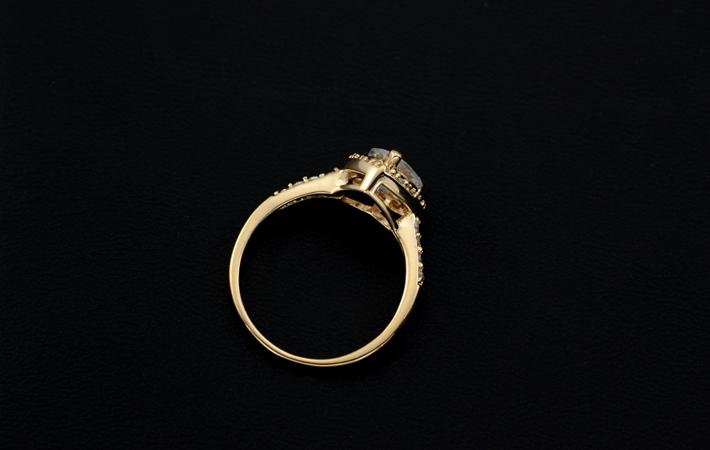 Zirkonia Valentinstag Geschenk Idee Luxus Damen Ring Herz plattiert vergoldet